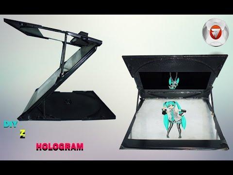 cara membuat Z hologram 2D