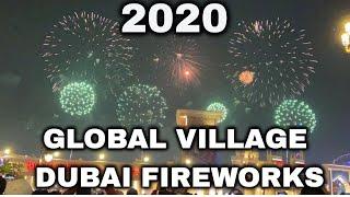 NEW YEAR FIREWORKS 2020 | GLOBAL VILLAGE DUBAI UAE CELEBRATION