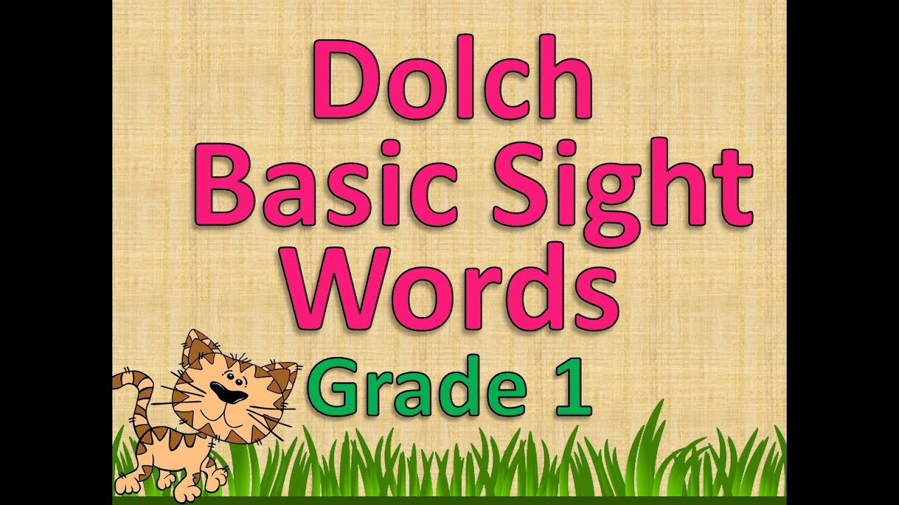 Worksheet Grade 1 Dolch Sight Words dolch basic sight words grade 1 youtube