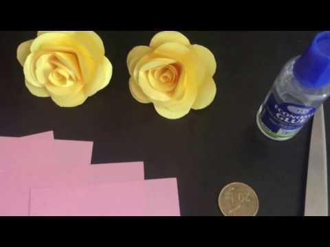 Kagizdan gul duzeltmek (Paper flower) 1
