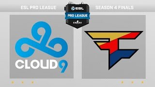 CS:GO - Cloud9 vs. FaZe [Dust2] - Group B - ESL Pro League Season 4 Finals