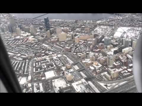 BOS takeoff view right over downtown Boston MA