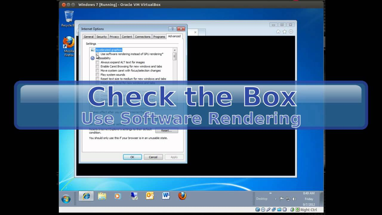 Windows 7: How to Fix the Blank Black or White Browser Window in Internet  Explorer 9