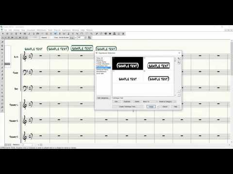Finale 2014.5-How to make text enclosures using Finale's jazz font