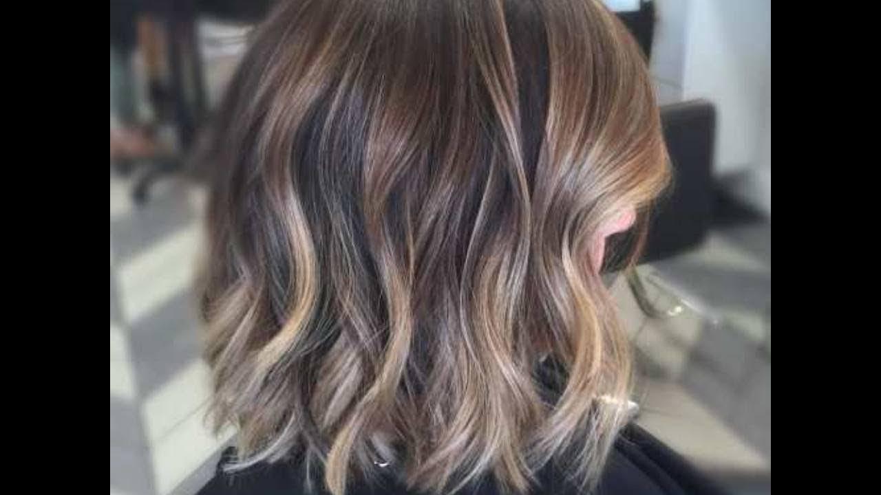 Brown Hair With Balayage Highlights Youtube