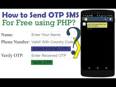How To Generate And Send OTP SMS For Free Using PHP? [With Source Code]