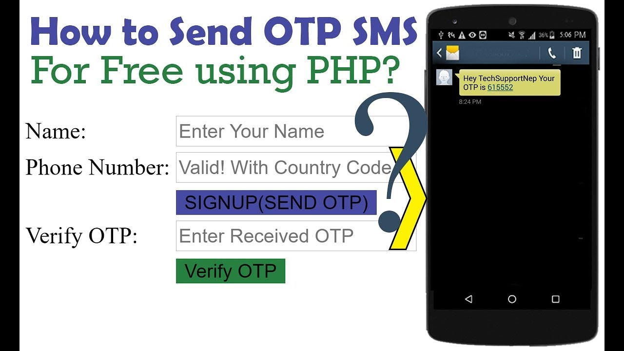 How to Generate and Send OTP SMS For Free using PHP? | TechSupportNep
