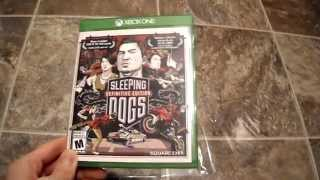 Unboxing Sleeping Dogs Definitive Edition United Front Games Xbox one Xbone X1 Microsoft Square Enix