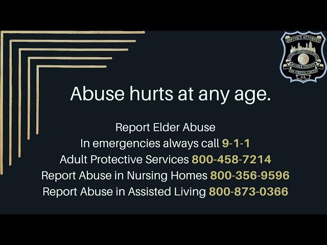 Elder Abuse Short