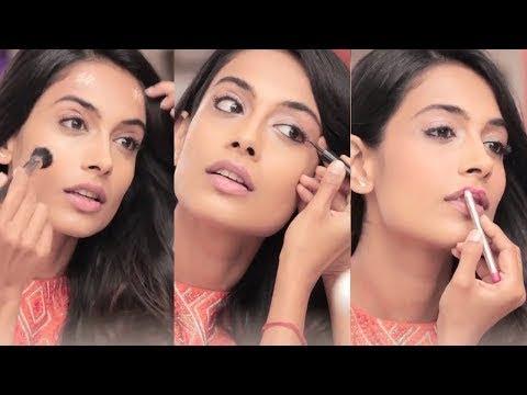 how to do easy party makeup look tutorial in hindi  urdu
