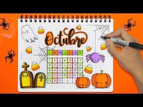 DIY: Haz tu Calendario de OCTUBRE! HALLOWEEN
