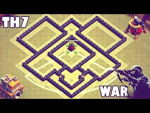 Clash of Clans | Town Hall 7 (Th7) War/Trophy Base - [Air Sweeper]