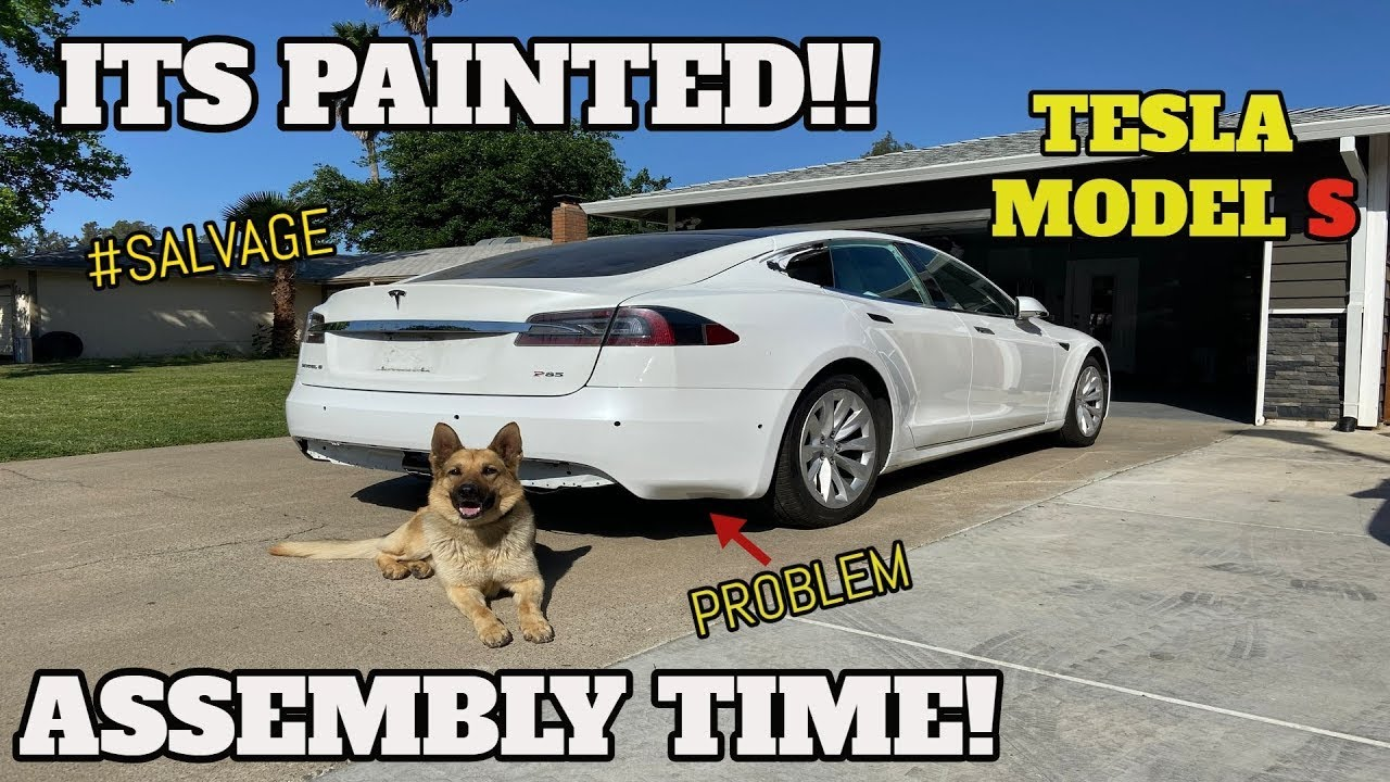Rebuilding a CHEAP Salvage TESLA Model S From COPART Part 5 ( Tesla Rebuild )