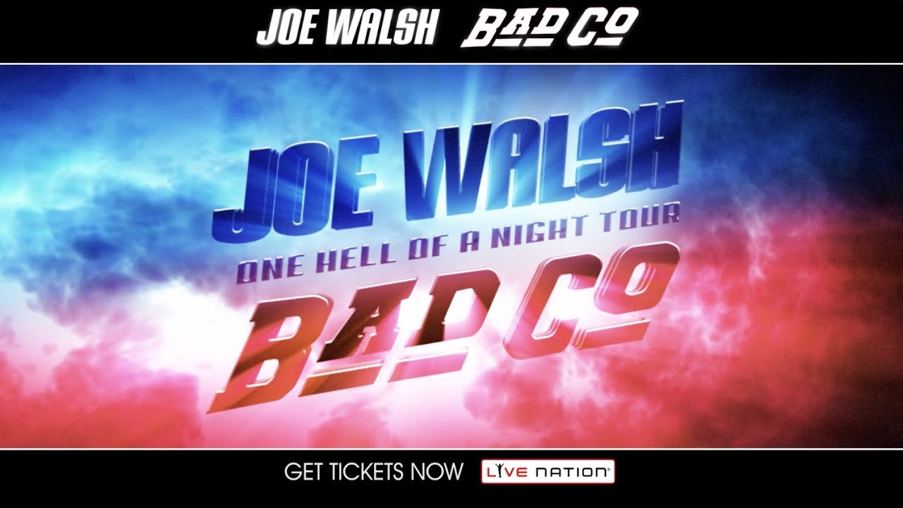 joe walsh bad company one hell of a night tour youtube. Black Bedroom Furniture Sets. Home Design Ideas