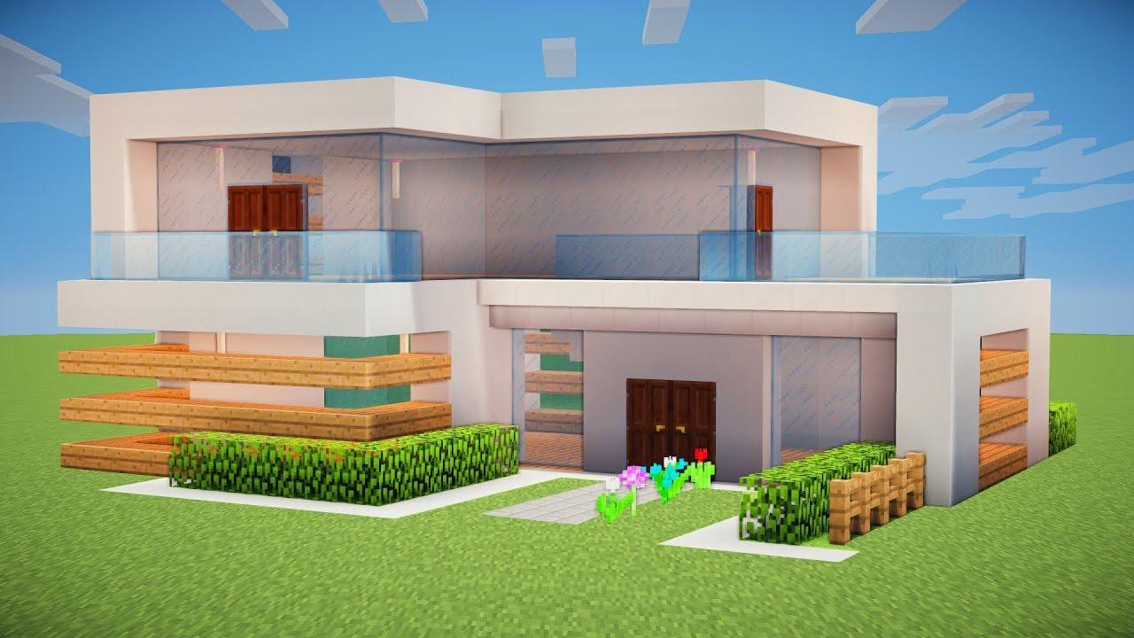 Minecraft Tutorial - Como fazer uma Casa Moderna - YouTube
