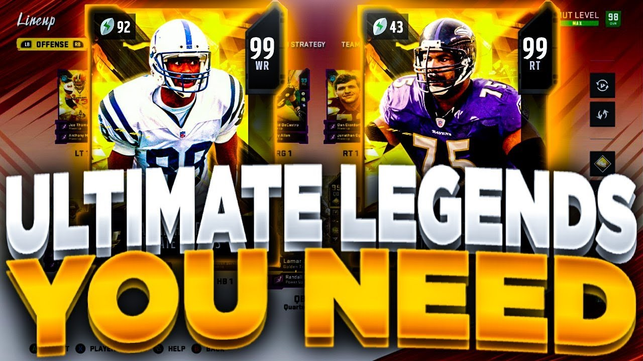 BEST ULTIMATE LEGENDS YOU NEED!! | RANKING THE ULTIMATE LEGEND CARDS MADDEN 20 ULTIMATE TEAM (P1)!!