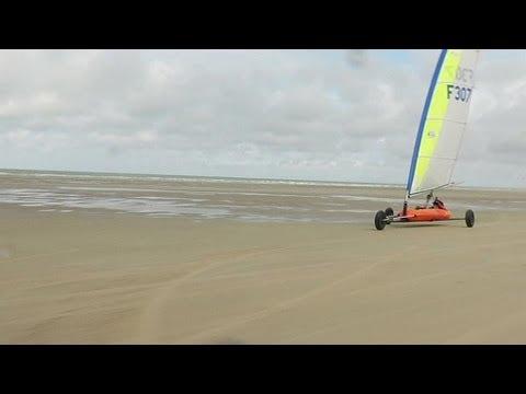 Une Semaine Dans Le Nord Char A Voile Sur La Plage Du Touquet 12 08 Youtube