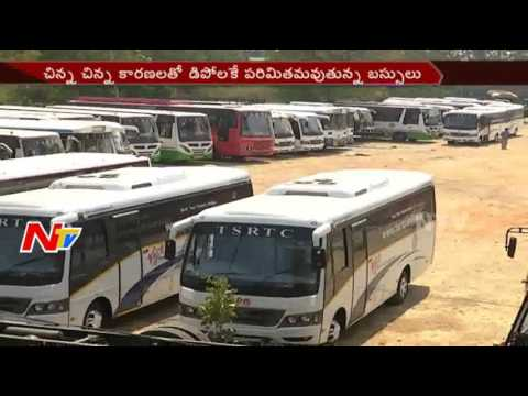 TSRTC New Buses Permits to Depot || Employees Unhappy on RTC Officials || NTV