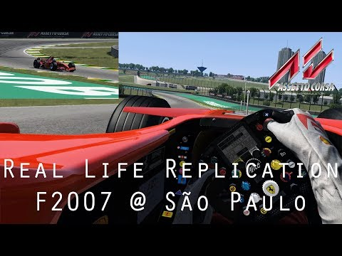 AC: Real Life Replication - F2007 @ São Paulo - Driver Eye + MultiCam - VR Gameplay