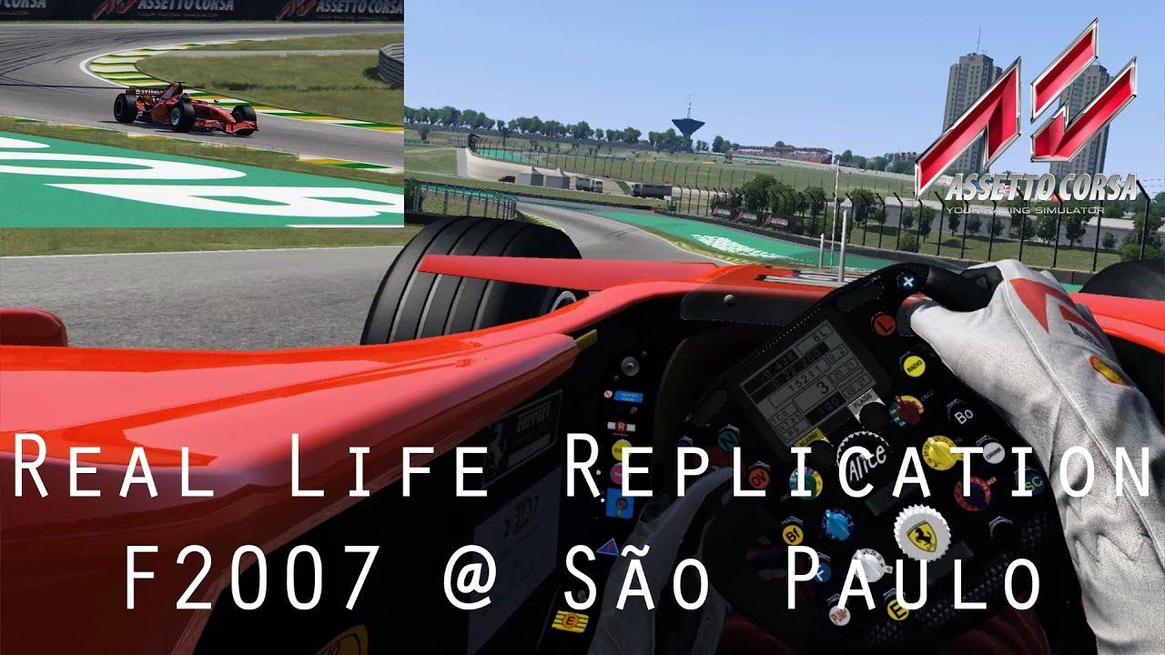 AC  Real Life Replication - F2007   São Paulo - Driver Eye + MultiCam - VR  Gameplay de4bcf5ba228f