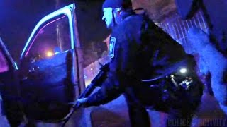 bodycam shows cincinnati police officers take cover during gunfire
