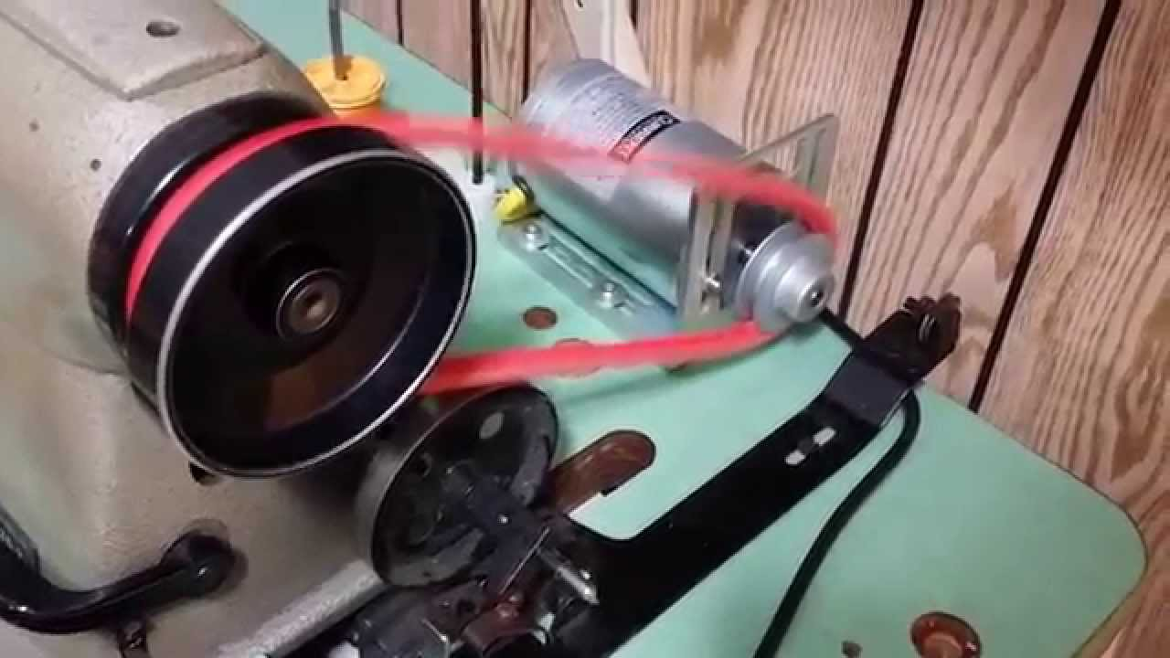 industrial sewing machine motor modification 1 3 hp youtube rh youtube com