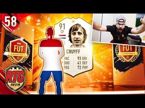 I GOT CRUYFF! FIFA 19 Ultimate Team Icon #58 RTG
