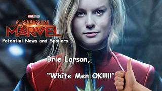 Captain Marvel : Brie Larson Gives the OK to White Men
