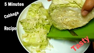 Quick and Healthy Cabbage Breakfast Recipe || Cabbage Recipes