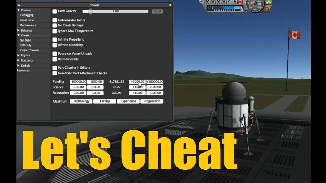 Let's Cheat on KSP - NEW Cheat/Debug Menu - ep158