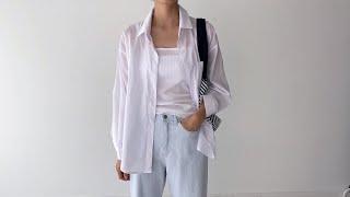 여름코디❣ 오버핏 여름셔츠 연청데님팬츠 | 사색 쇼핑몰…