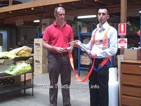 What Is A Height Safety Shock Absorbing Web Lanyard?