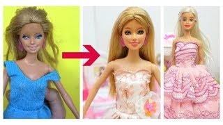 Doll Makeover Transformation 😱 Barbie Hairstyles and Clothes 👸 Barbie Tutorial