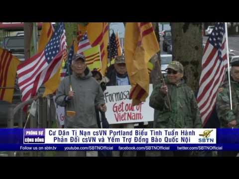 PHÓNG SỰ CỘNG ĐỒNG: Biểu tình yểm trợ quốc nội tại Oregon