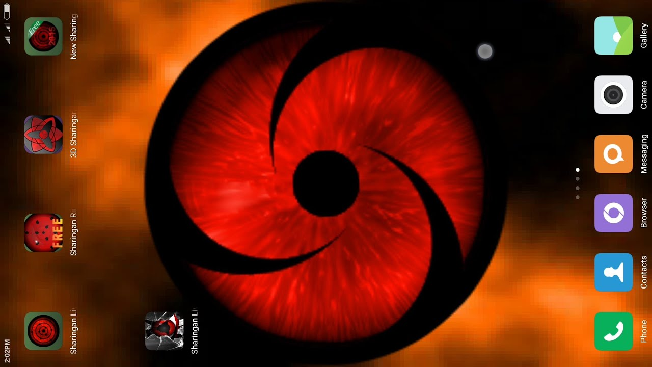 top 5 bestawesome sharingan live wallpaper apps ever for android youtube