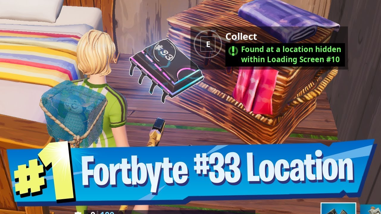 'Fortnite' Fortbyte #33: Found At A Location Hidden Within Loading Screen #10