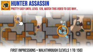 Hunter Assassin First Impressions and Walkthrough Levels 1 to 150 - Android gameplay FHD