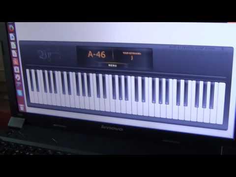 играю на клавиатуре/ виртуальное пиано