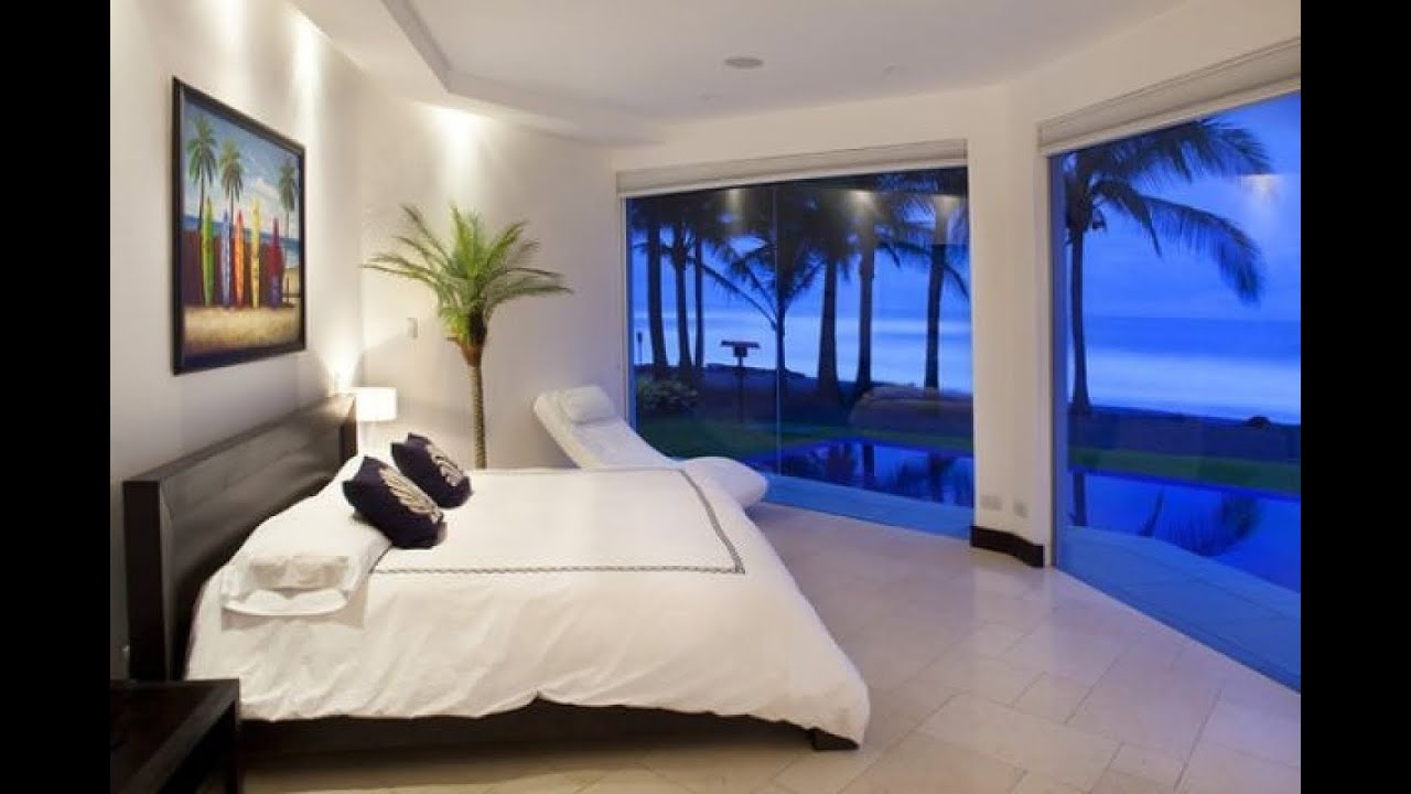 Bedroom wallpaper youtube for Beach house bedroom designs