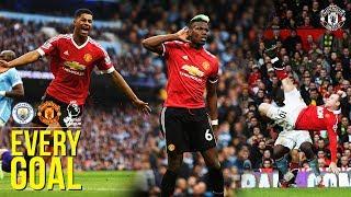 EVERY Manchester United Premier League Goal v Manchester City! | Rooney, Ronaldo, Rashford, Pogba