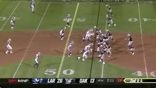 Marcus Peters HOLD MY D*CK TD celebration: Rams vs Raiders Week 1