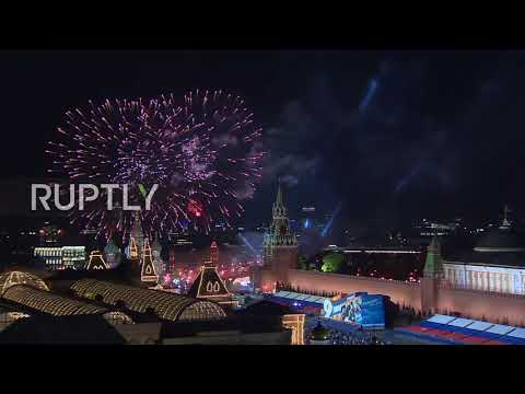 Russia: Fireworks light up Moscow skyline for Victory Day