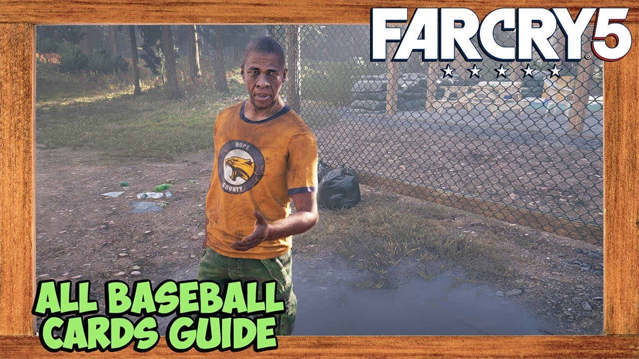 Far Cry 5 All Baseball Cards Locations Far Cry 5 Collectibles