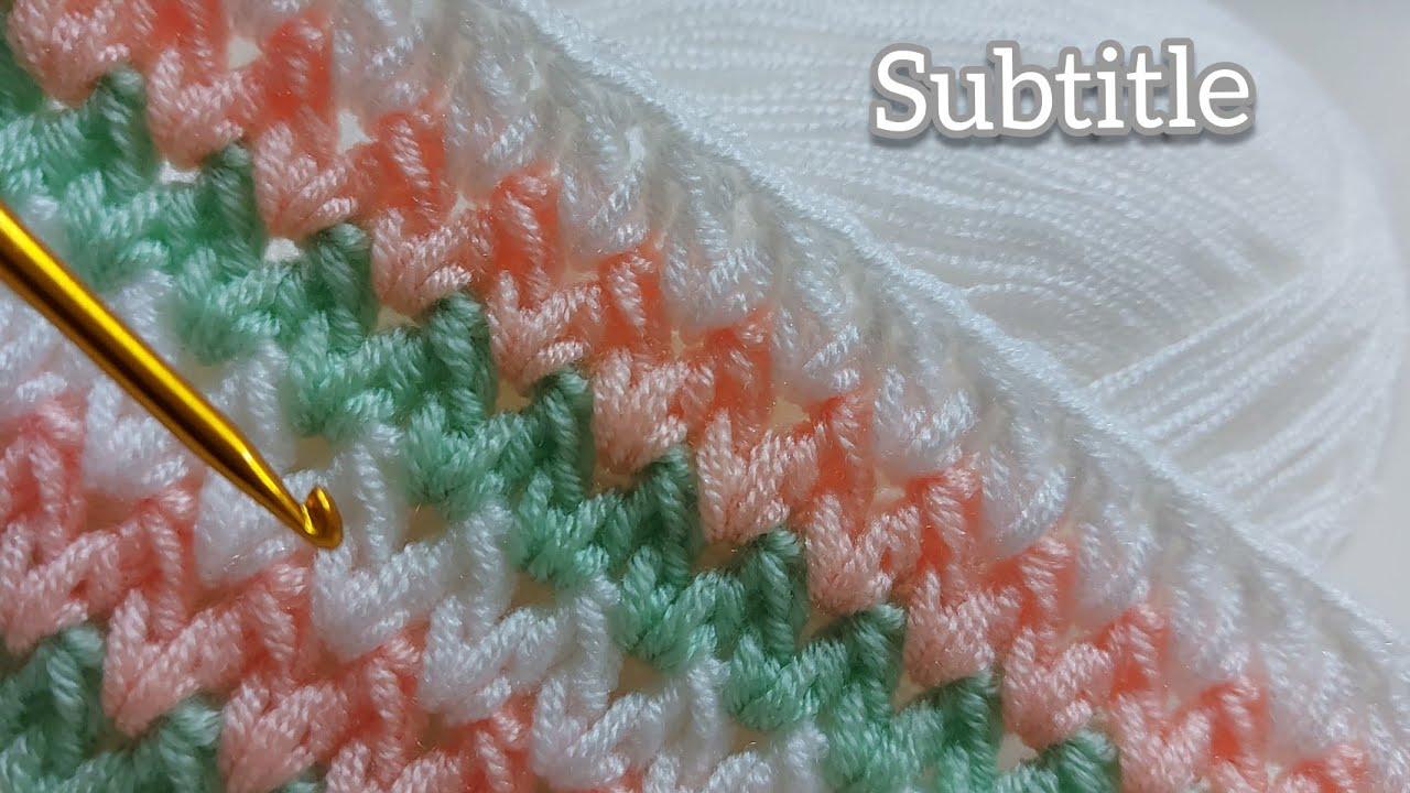 Çok Kolay Tığ İşi Bebek Battaniyesi Örgü Modeli ~ Trend Örgü Battaniye Modelleri