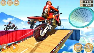 Realistic Bike Stunts Impossible Race- 3D Motorcycle Stunts #1-5 Android Gameplay