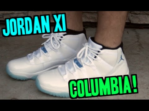 67de56f2aac Nike Air Jordan Retro XI Legend Blue ON FEET! - YouTube