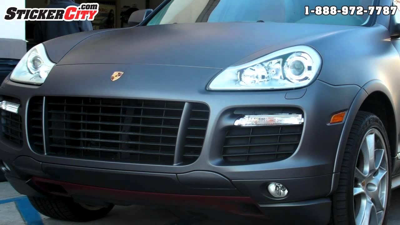 Matte Porsche Cayenne 3m Wrap By Sticker City Youtube