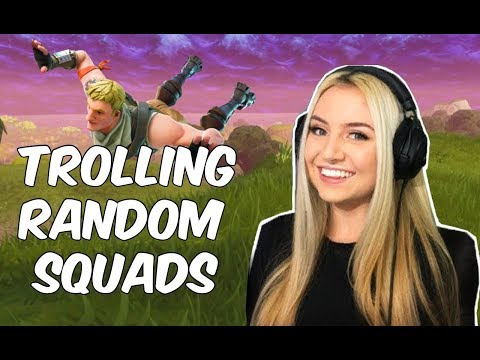 Pretending To Be A Noob In Fortnite (random Squads)