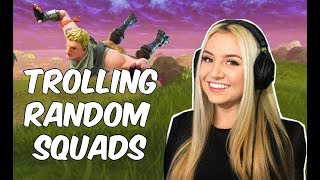 Pretending to be a noob in Fortnite (random squads)