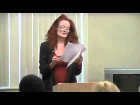 Diane Salinger reading at Vicki Abelson's Women Who Write 92711